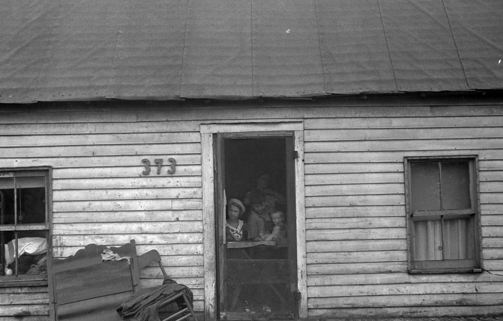 """Dweller in Circleville's """"Hooverville,"""" central Ohio. 1938 Summer. (Universal History Archive/UIG via Getty Images)"""