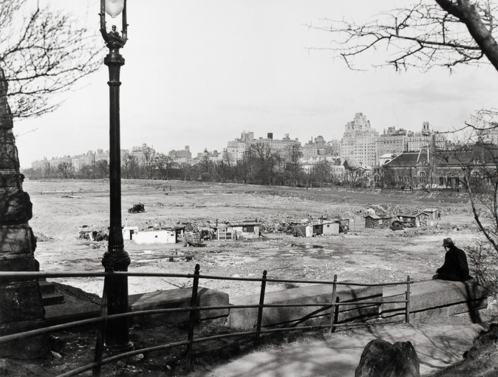 1920s --- Hooverville in Central Park --- Image by © Bettmann/CORBIS