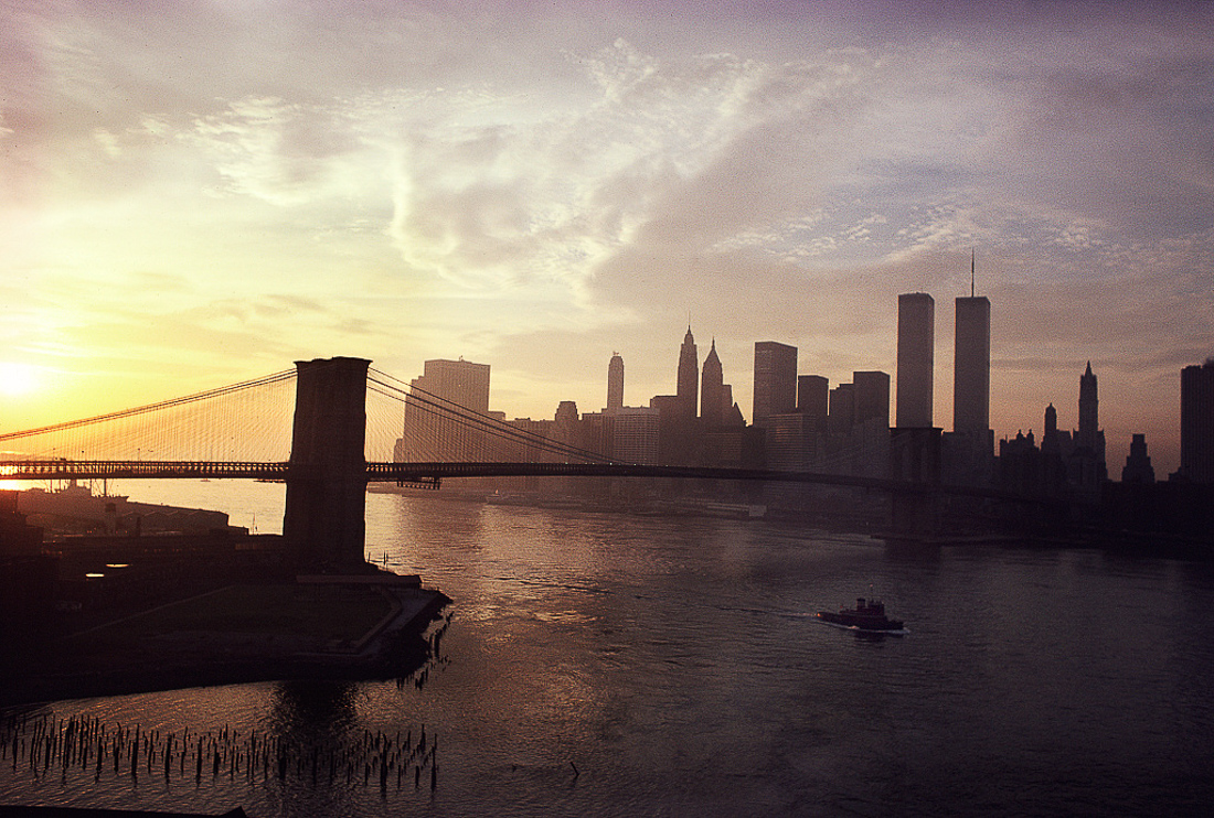 View of Lower Manhattan from the Manhattan Bridge, November 1979
