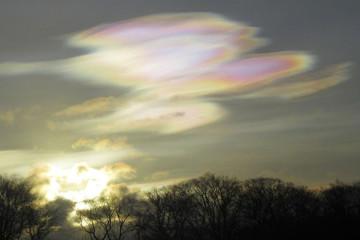 nubes estratosféricas polares, nubes nacaradas, nubes madreperla